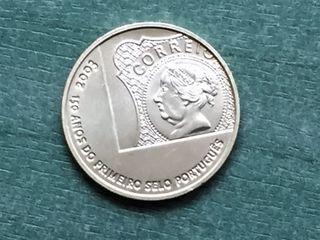 MONEDA PORTUGAL 5 € PLATA 2003 PRIMER SELLO