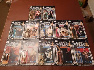 Vintage Starwars first 12 Recarded repo cardbacks