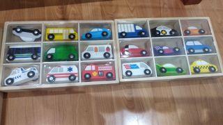 Set de coches de madera + Ciudad de juguete