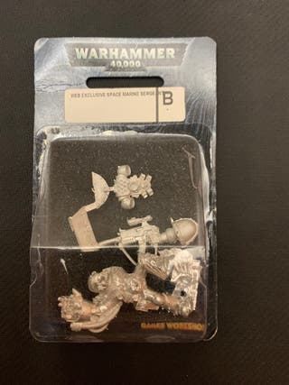 warhammer 40k web exclusive space marine sergeant