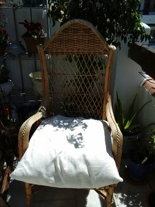 sillón de minbre