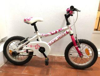 Bicicleta per nena de 3-6 anys