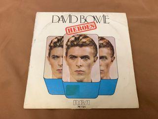 "DAVID BOWIE HÉROES disco vinilo single 7"" promo"