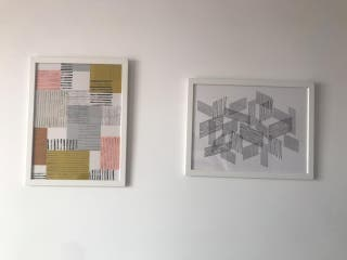 Set de 3 cuadros IKEA / marco / poster enmcarcado