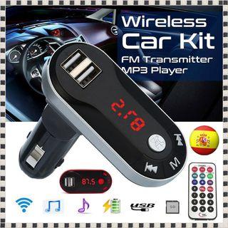 Reproductor MP3 y Transmisor FM Coche USB TF AUX