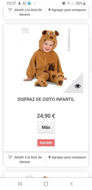 disfraz bebé 18 meses