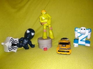 Lote juguetes Spiderman Tortugas ninja robot coche