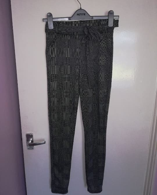 Checked Fitted Jeggings