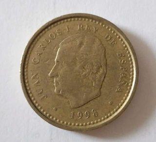 Moneda de cien pesetas año 98