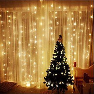 LUCES DE NAVIDAD Cortina de luces LED,