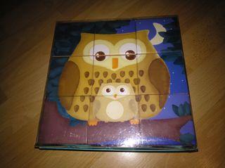 puzzle de cubos de animales.