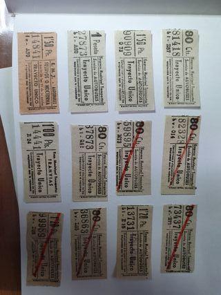 billetes de la E.M.T DE MADRID