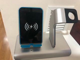 Base cargador inalámbrico y Apple Watch