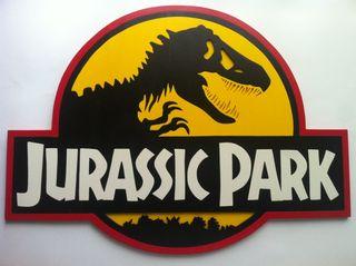 Jurassic park logo en madera XL