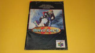 Wave Racer Nintendo 64 N64 Manual de instrucciones
