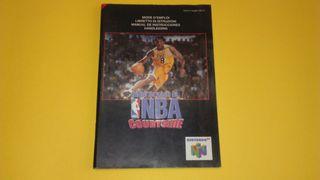Kobe Bryant NBA Courtside Nintendo 64 N64 Manual