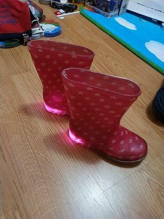 botas de agua con luz