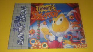Sega Game Gear Dynamite Headdy manual