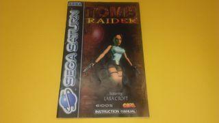 Sega Saturn Tomb Raider Manual de Instrucciones
