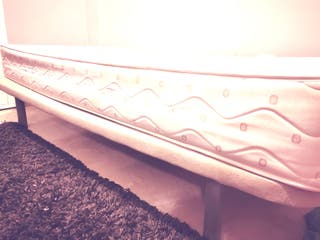 somier base tapizada + colchón