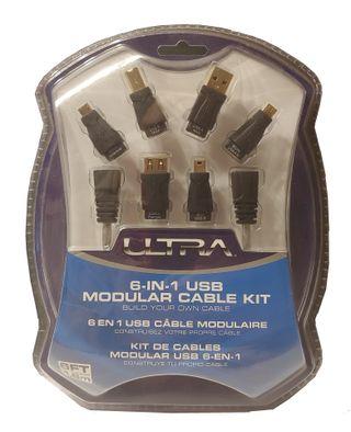Cable USB multificha 6 en 1 de 1, 8m ULTRA