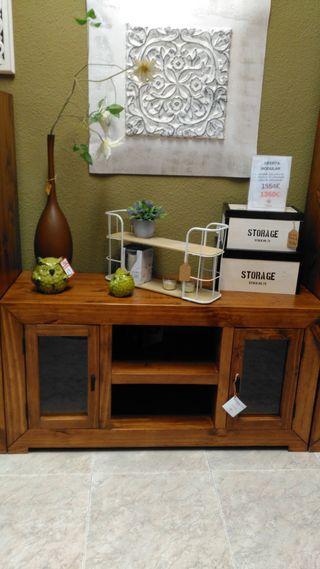 Mueble tv madera mejicano