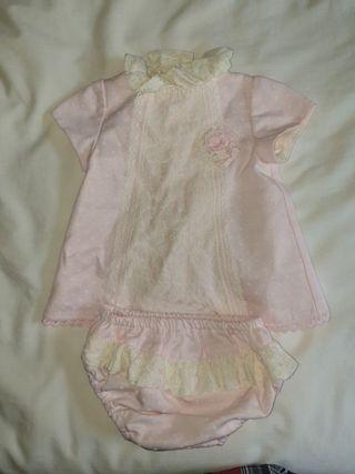Vestido marca Dulce Petit para bebé de 1 mes