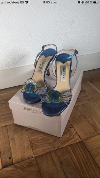 Sandalias azules de Jimmy Choo