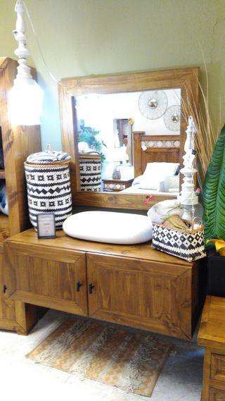 Mueble Baño rustico mejicano