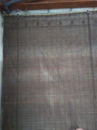 Cortina estore bambú 150 x 210 cm marrón - 4 unid.