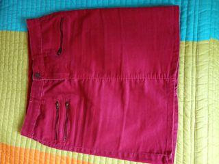 Falda vaquera roja