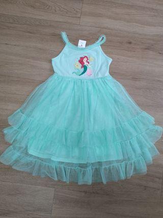 Disney Store vestido sirenita niña talla 5-6