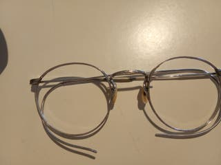 Gafas plata antiguas