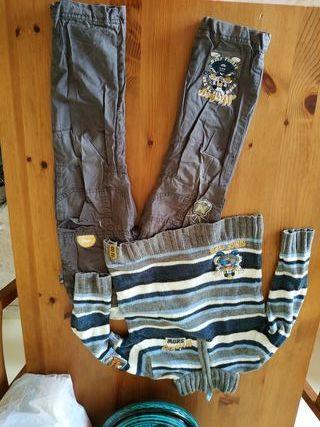 conjunto de jersey y pantalón mickey