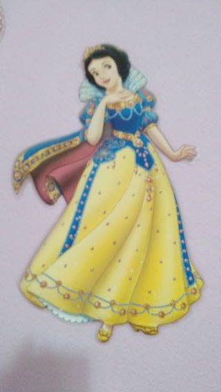 figura pared Blancanieves