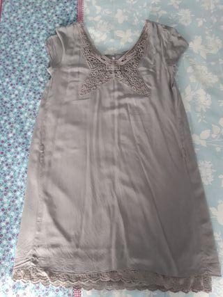 Vestido premama o talla grande gris