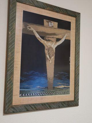cuadro Cristo de Dalí en punto de cryz