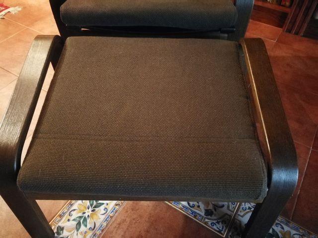 sillón butaca relax y reposapies