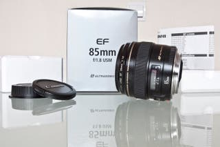 "CANON 85 MM. F1.8 USM: COMPLETO Y NUEVO + ""BW"""
