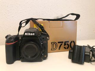 Nikon D750 cuerpo con accesorios originales