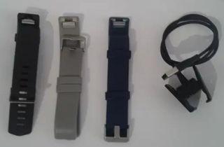 Fitbit Charge 2, 3 correas y cargador de Recambio