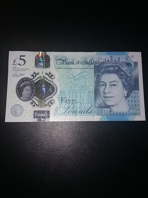 Billete 5 Libras Inglaterra