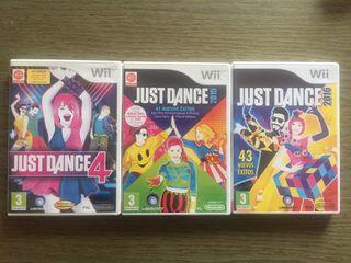JUST DANCE 4, 2015 y 2016 para Wii