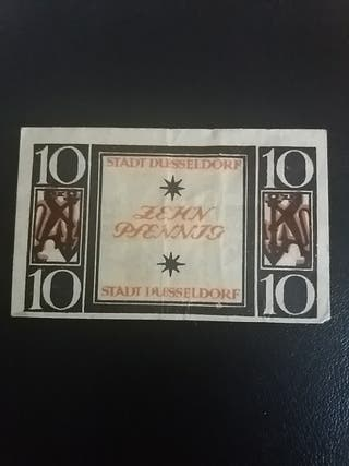 Billete 10 Pfennig