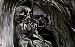 """Elegante cuadro de """"el beso de la muerte"""""""