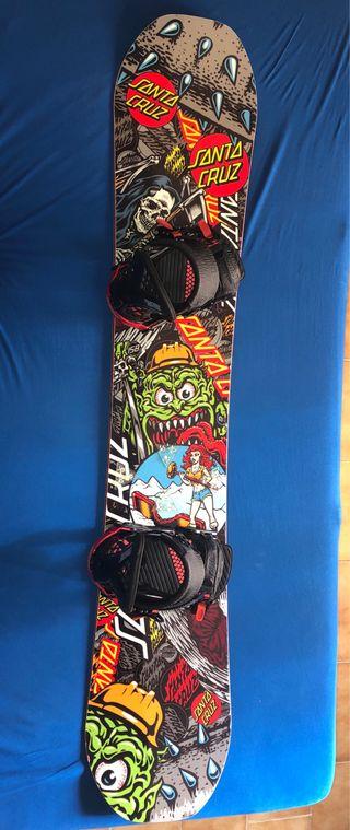 Tabla snowboard Santa Cruz + fijaciones Santa Cruz
