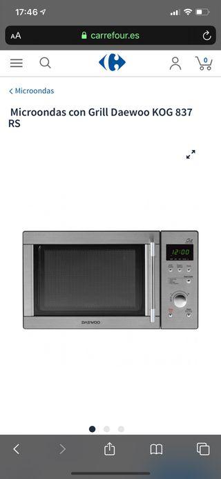 Microondas Daewoo 800W combi (grill)