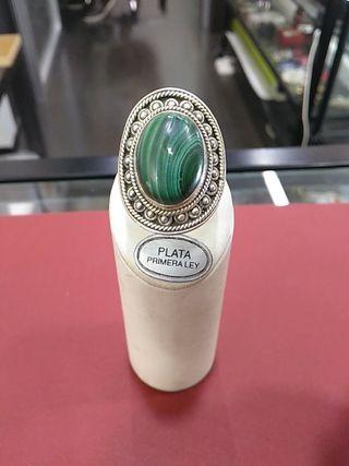 anillo plata de ley 925 con piedra natural