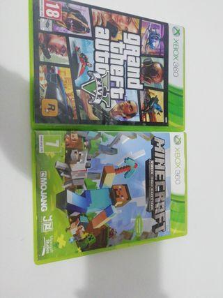 juegos gta V y minecraft