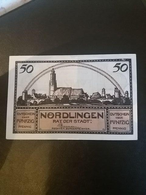 Billete 50 Pfennig